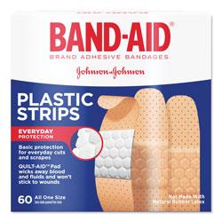 Band Aid Plastic Adhesive Bandages, 3/4 x 3, 60/Box