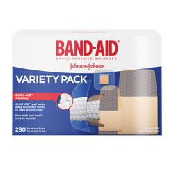 Band Aid Sheer/Wet Adhesive Bandages, Assorted Sizes, 280/Box