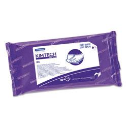 Kimtech* W4 PreSat Alcohol Wipers, 70% IPA, 9 x 11, White, 40/Pack, 10/Carton