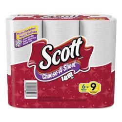 Scott® Choose-a-Size Mega Roll, White, 102/Roll, 6 Rolls/Pack, 4 Packs/Carton