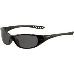 Jackson Safety* V40 HellRaiser Safety Glasses, Black Frame, Smoke Lens