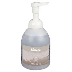 Kleenex Alcohol-Free Foam Hand Sanitizer, 18 oz Pump Bottle, 4/Carton
