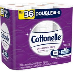 Cottonelle® Bath Tissue, Ultra ComfortCare, 18/PK, White