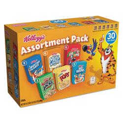 Kellogg's Breakfast Cereal Mini Boxes, Assorted, 2.39 oz Box, 30/Carton