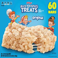 Kellogg's Rice Krispies Treats, Original Marshmallow, 0.78 oz Pack, 60/Carton