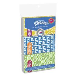 Kleenex On The Go Packs Facial Tissues, 3-Ply, White, 30 Sheets/Pack, 36 Packs/Carton