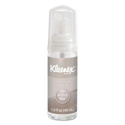 Kleenex Alcohol-Free Foam Hand Sanitizer, 1.5 oz, Clear, 24/Carton