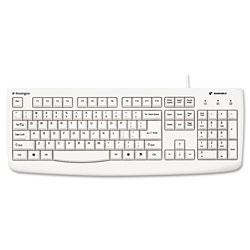 Kensington Pro Fit USB Washable Keyboard, 104 Keys, White