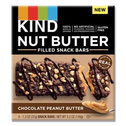 Kind Nut Butter Filled Snack Bars, Chocolate Peanut Butter, 1.3 oz, 4/Pack