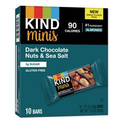 Kind Minis, Dark Chocolate Nuts/Sea Salt, 0.7 oz, 10/Pack