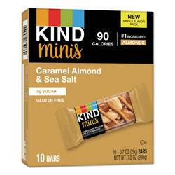 Kind Minis, Caramel Almond Nuts/Sea Salt, 0.7 oz, 10/Pack