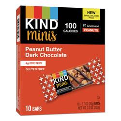 Kind Minis, Peanut Butter Dark Chocolate, 0.7 oz, 10/Pack
