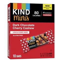 Kind Minis, Dark Chocolate Cherry Cashew, 0.7 oz, 10/Pack