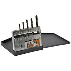 KnKut 5 Piece Left Hand Jobber Length Drill Bit Set