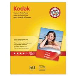Kodak Premium Photo Paper, 8.5 mil, Glossy, 8 1/2 x 11, 50 Sheets/Pack