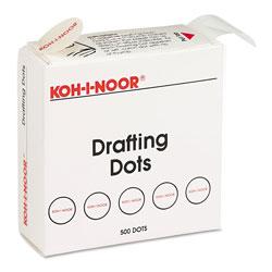 Chartpak/Pickett Adhesive Drafting Dots, 0.88 in dia, Dries Clear, 500/Box