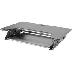Kantek Sit-To-Stand Desk Riser, 35 in x 24 in x 5-1/4 in, Black