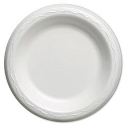 Genpak Elite Laminated Foam Plates, 6 Inches, White, Round, 125/Pack, 8 Pack/Carton