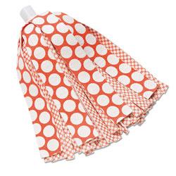 Libman Wonder Mop Refill, 10 in, Red/White, 6/Carton