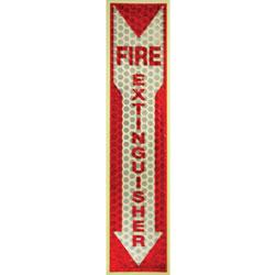 "L.C. Industries Fire Extinguisher Sign, Glow in Dark, 1""x4""x16-3/4"", RD/WE"