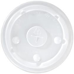 International Paper Flat Translucent Bubble Cold Cup Lid, 12 oz. - 24 oz.