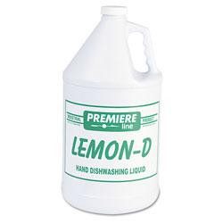 Kess Lemon-D Dishwashing Liquid, Lemon, 1gal, Bottle, 4/Carton