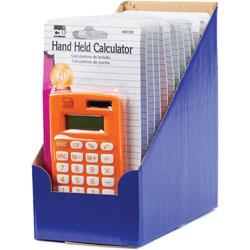 Charles Leonard Hand Held Calculator, 8-Digit, 12/PK, Assorted