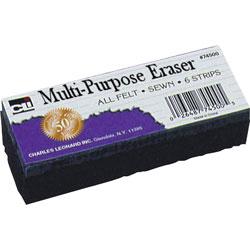 """Charles Leonard WhiteBoard Eraser, Felt, 5""""x2""""x1"""", White"""