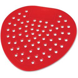 Impact Urinal Screen, Deodorized, Cherry, 8 in Diameter, 12/DZ, Red