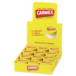 Carmex Moisturizing Lip Balm, Original Flavor, 0.25 oz Jar, 12/Box