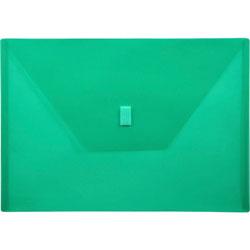 "Lion Poly Envelope, Hook and Loop Closure, 13"" x 9 3/8"" , ./Green"
