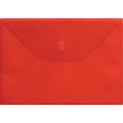 Lion Poly Envelope, Side Opening, Hook/Loop, 13 in x 9-3/8 in, Red