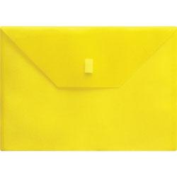 Lion Poly Envelope, Side Opening, Hook/Loop, 13 in x 9-3/8 in, Yellow
