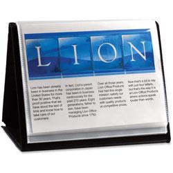 Lion Flip N Tell NA View Binder, Black