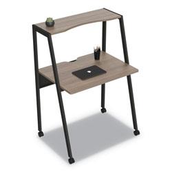 Linea Italia Kompass Flexible Home/Office Desk, 33w x 23.4d x 48h, Mocha