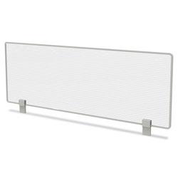Linea Italia Trento Line Dividing Panel, Polycarbonate, 47.13w x 1.75d x 15.5h, Translucent