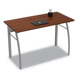 Linea Italia Trento Line Rectangular Desk, 47.25w x 23.63d x 29.5h, Cherry