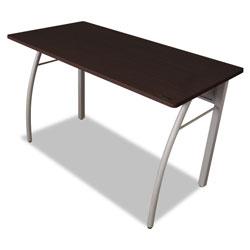Linea Italia Trento Line Rectangular Desk, 47.25w x 23.63d x 29.5h, Mocha/Gray