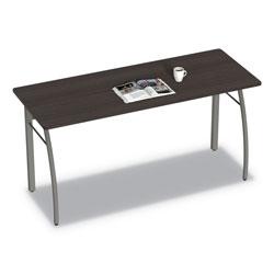 Linea Italia Trento Line Rectangular Desk, 59.13w x 23.63d x 29.5h, Mocha/Gray