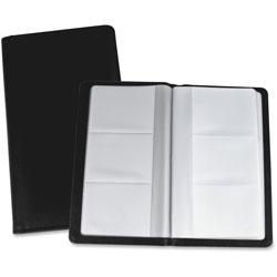 Lorell Card Holder, 192 Cap, 4-3/4 in x 7 in x .71 in, Black