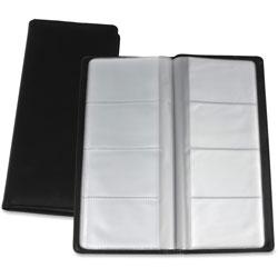 Lorell Card Holder, 128 Cap, 4-3/8 in x 9 in x .75 in, Black