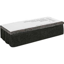 Lorell Chalkboard Eraser, Felt, Dustless, Black