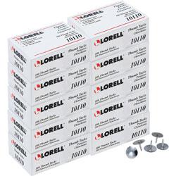 Lorell Thumb Tacks, 3/8 inDia Shank, 5/16 inL, 1000/BX, Silver