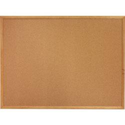 Lorell Cork Board, 3'x2', Oak Frame