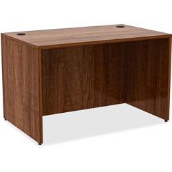 Lorell Laminate Desk, 48 in x 30 in x 29-1/2 in, Walnut