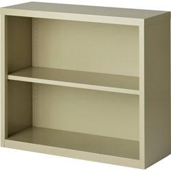 Lorell 2-Shelf Bookcase, Putty