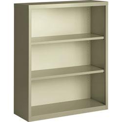 Lorell 3-Shelf Bookcase, Putty