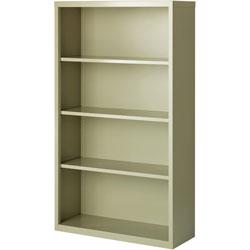 Lorell 4-Shelf Bookcase, Putty