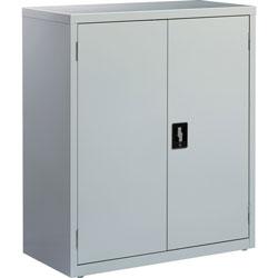 Lorell Storage Cabinet, 36 inx18 inx42 in, Light Gray