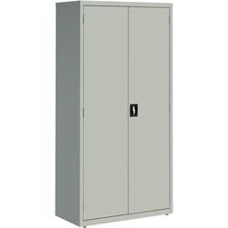 Lorell Storage Cabinet, 36 inx18 inx72 in, Light Gray